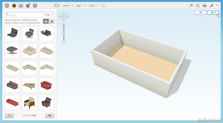 Proiectează-ţi casa online - Floorplanner - vedere 3D
