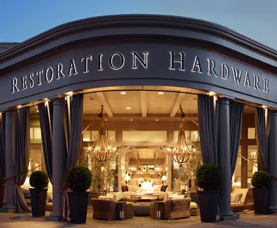 Internuts with chris chris goes to restoration hardware for Restoration hardware online shopping
