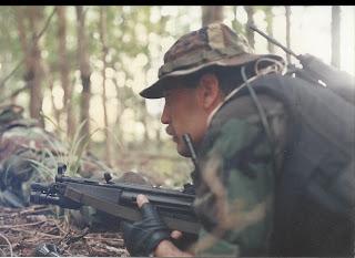 Denham practices SWAT duties in the field.