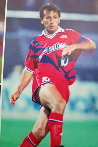 Zico in his playing days in Japan for Kashima Antlers.