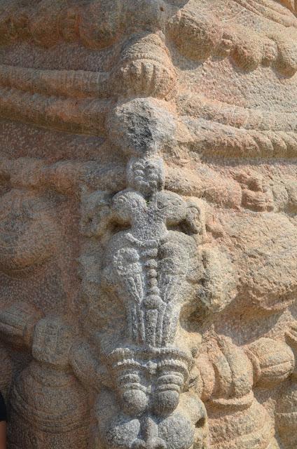 Gandaberunda on Necklace of Nandi, Lepakshi, Andhra Pradesh