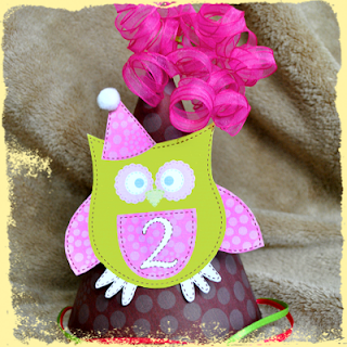 children's owl birthday party hat