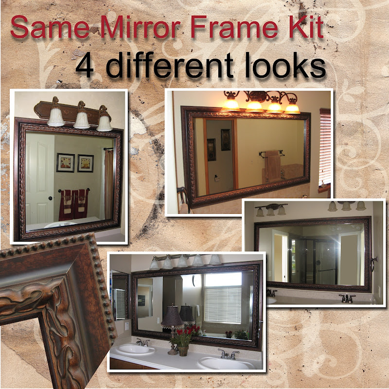 Same Mirror Frame Kit, 4 Different Looks title=