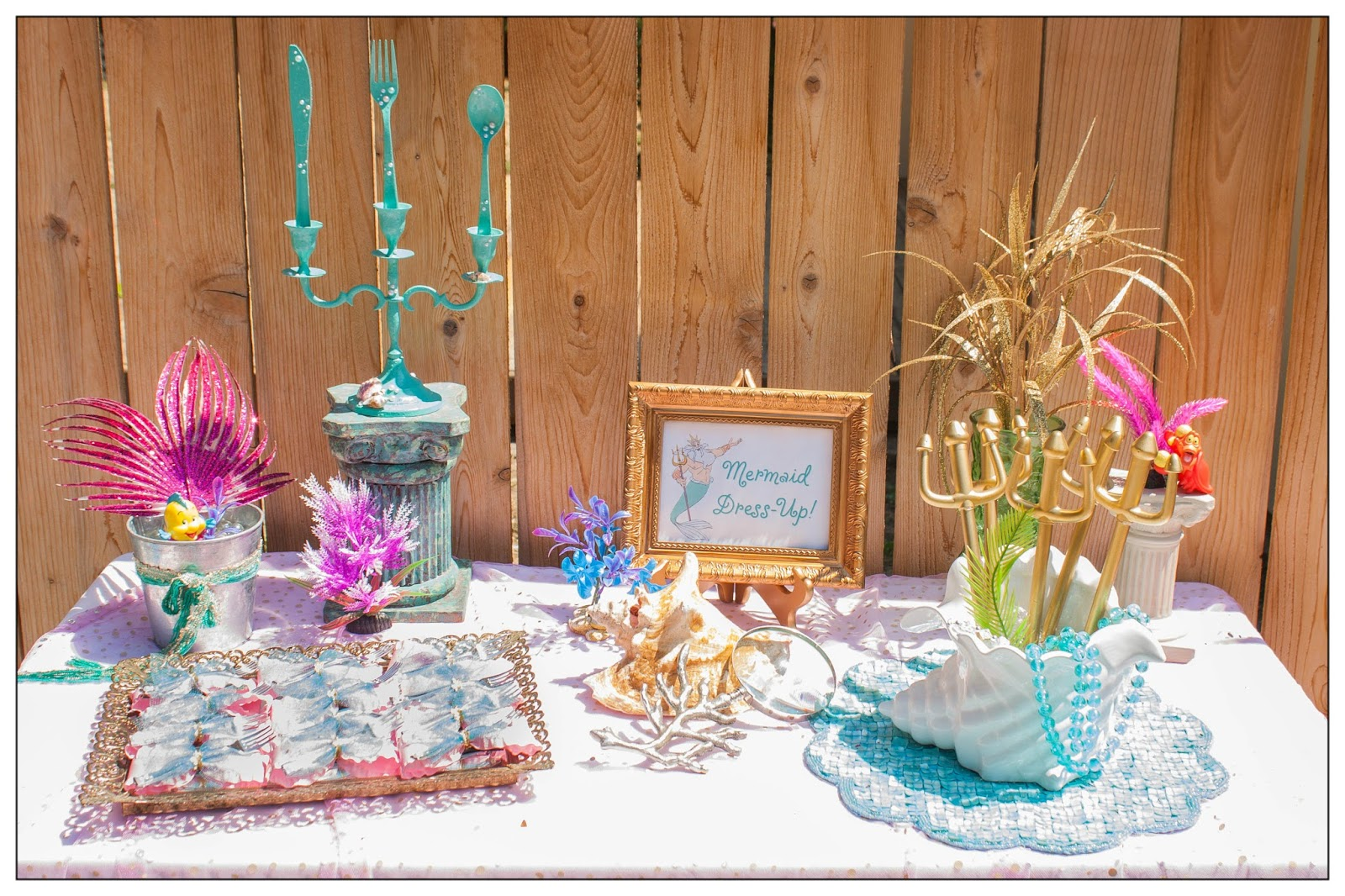 Bella c parties the little mermaid pool party for Ariel party decoration ideas