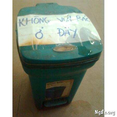 Không vứt rác ở đây