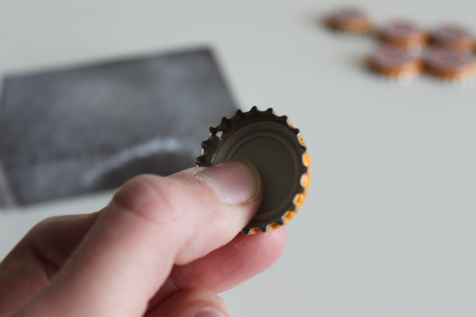 how to cut a hole in a bottle cap