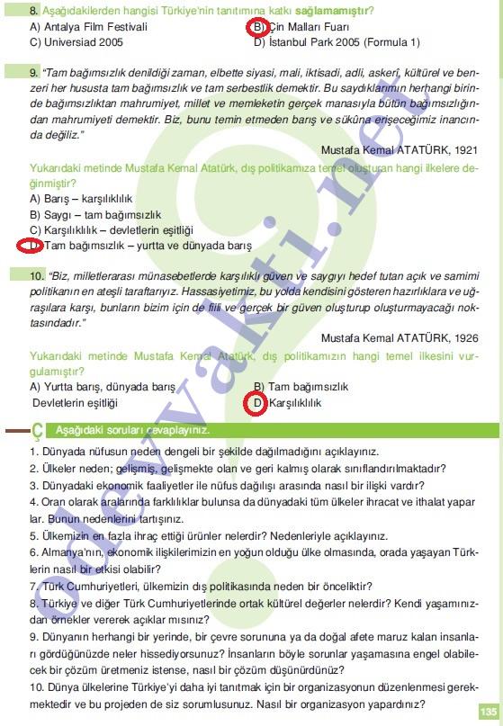 Ders kitabı cevapları 2012 2013 6 sınıf sosyal bilgiler ders