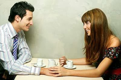 man-woman-talking