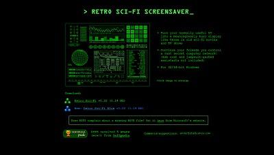 Retro Sci-Fi Screensaver, Screensaver
