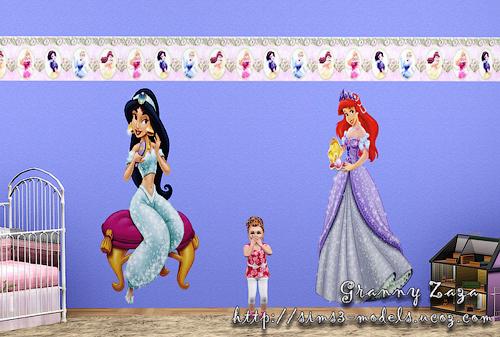 My Sims 3 Blog: Disney Princesses Wallpapers by Granny Zaza