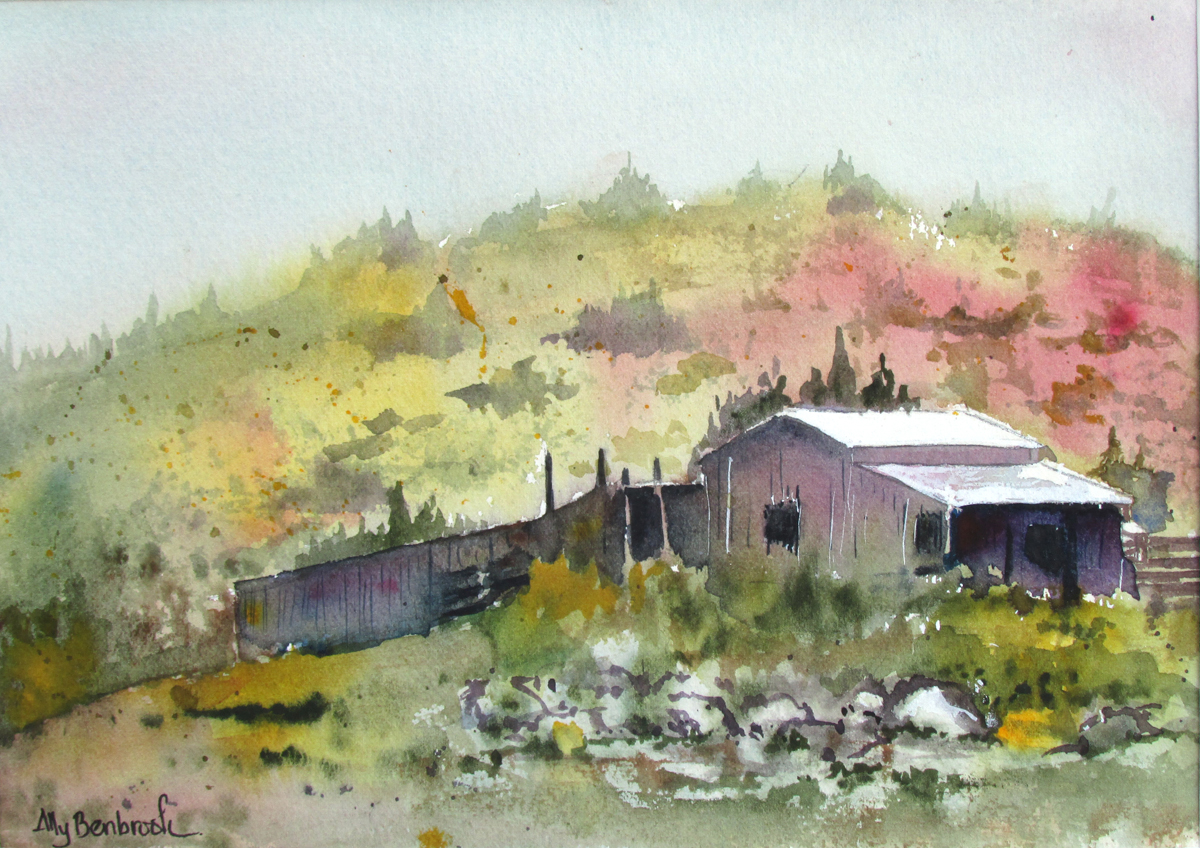 Watercolor artists international old barn series 12 for Watercolor barn paintings