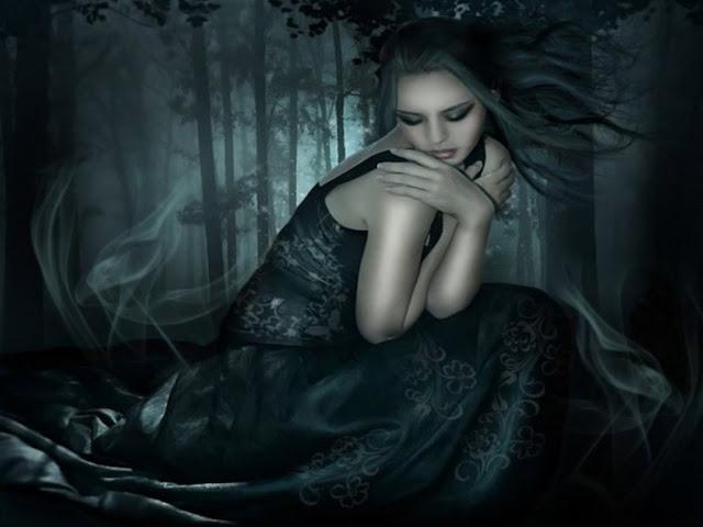 dark forest fairy wallpaper