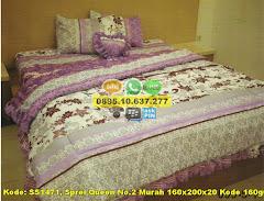 Harga Sprei Queen No.2 Murah 160x200x20 Kode 160g032 Jual