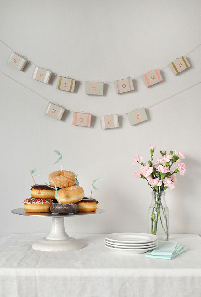 Paper Suitcase Garland