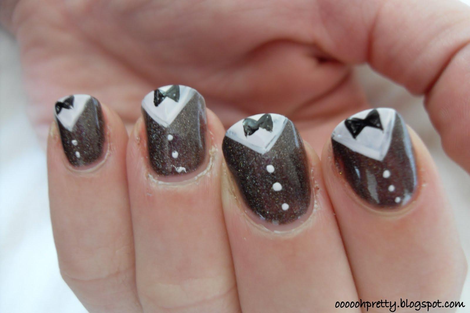 Tuxedo Nail Design