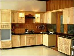 wooden laminated modular kitchen with textured wall painting