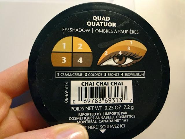 Guide for how to apply Annabelle Chai Chai Chai Eyeshadow Quad