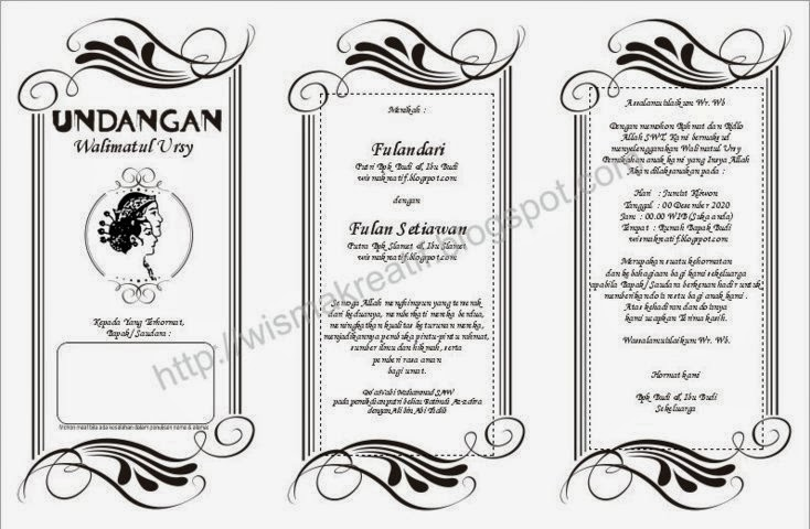 template undangan Walimatul Ursy dalam format .doc atau Ms. Word