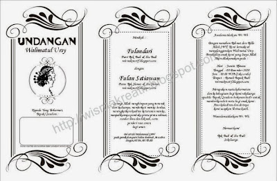 Download Template Undangan Walimatul Ursy