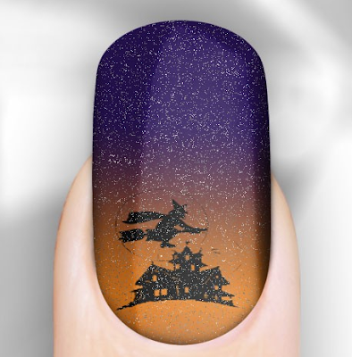 Rebel Nails, Rebel Nails Glittering Halloween Ghostly Nail Wraps, nail art, nails, nail polish, nail lacquer, nail varnish, nail wraps, nail stickers, Halloween, Halloween beauty products