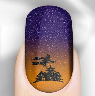 Rebel Nails, Rebel Nails Glittering Halloween Ghostly Nail Wraps, nail art, nails, nail polish, nail lacquer, nail varnish, nail wraps, nail stickers, Halloween, Halloween beauty products