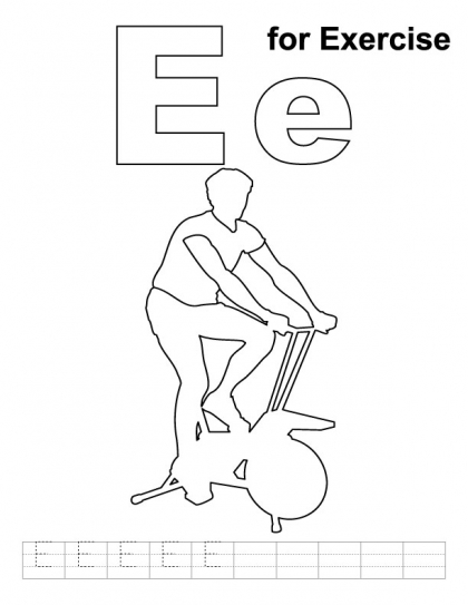 Letter E For Eye Coloring Pages