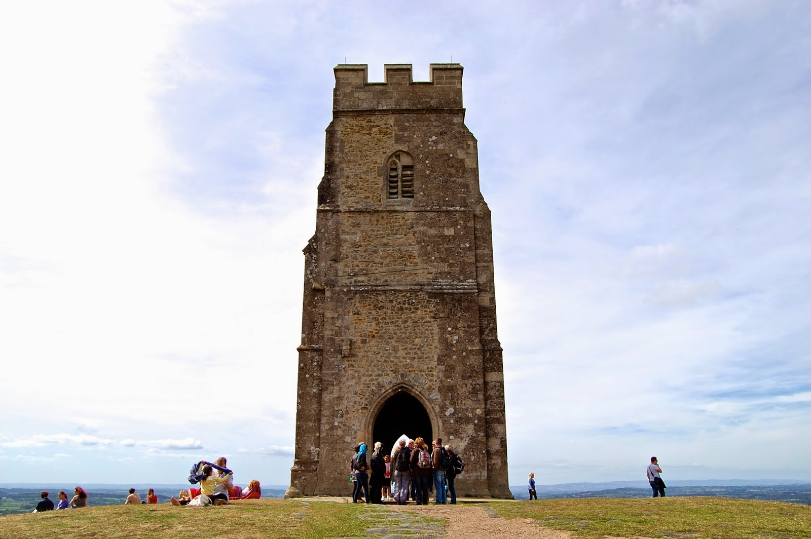 Tower from St. Michael's Church on Glastonbury Tor