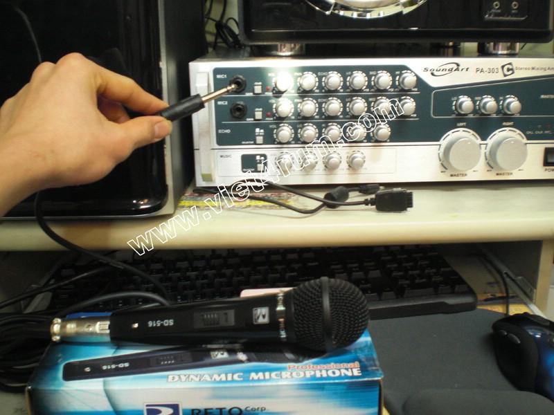Hướng dẫn nối ampli với máy tính