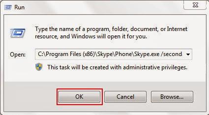 Cách chat nhiều nick Skype trên cùng một máy tính