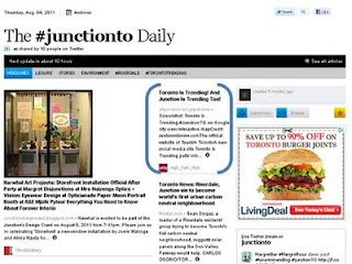 paper.li: The #JunctionTO Daily Toronto Is Trending! And Junction Is Trending Too!, screenshot by artjunction.blogspot.com