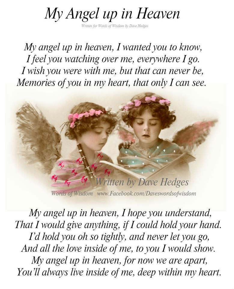 Daveswordsofwisdom.com: My Angel up in Heaven