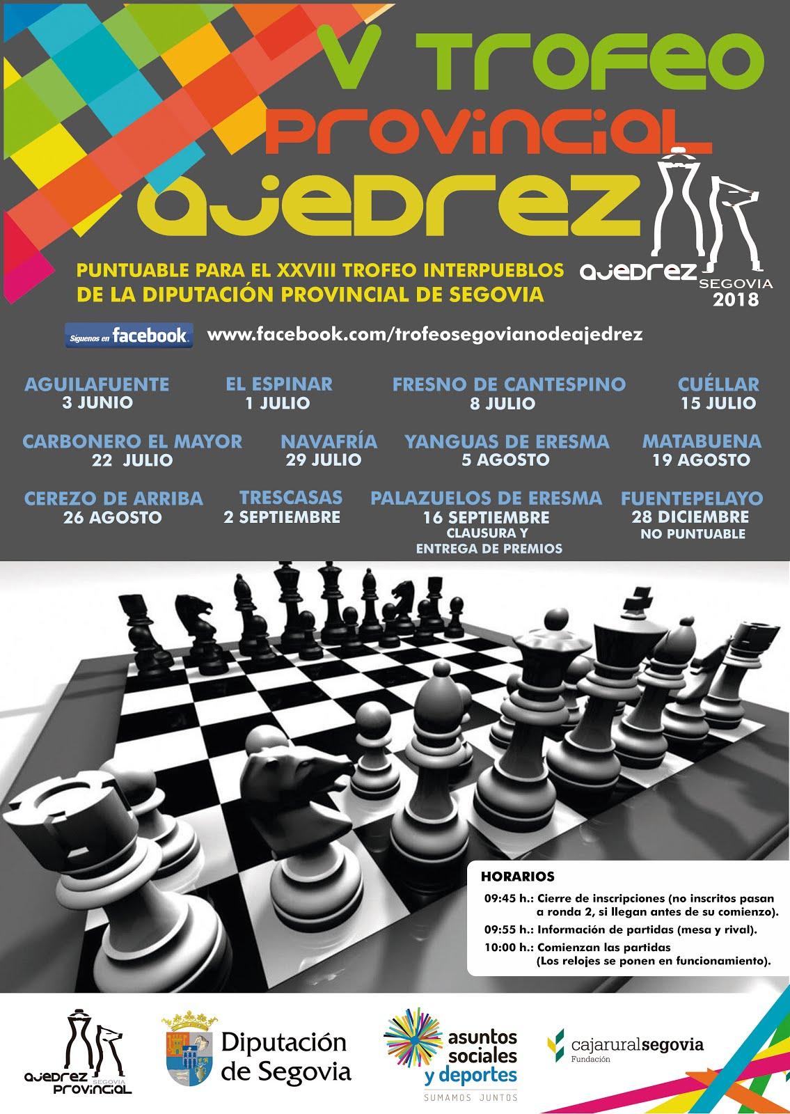 Trofeo Provincial de Ajedrez - Segovia 2018