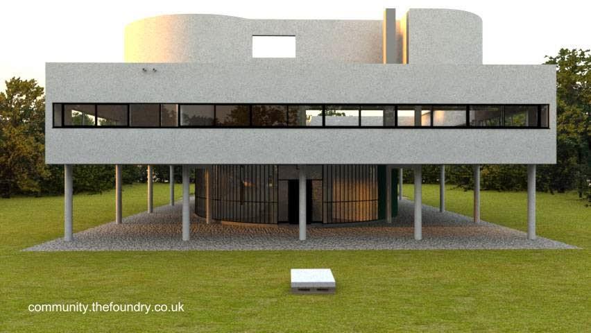 Villa Saboye vista de una fachada