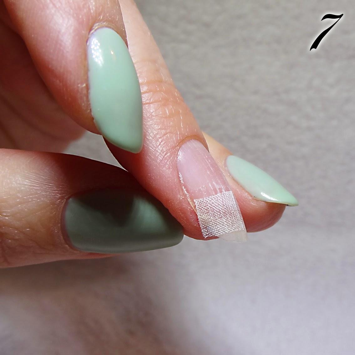 réparer un ongle cassé avec du papier de soie