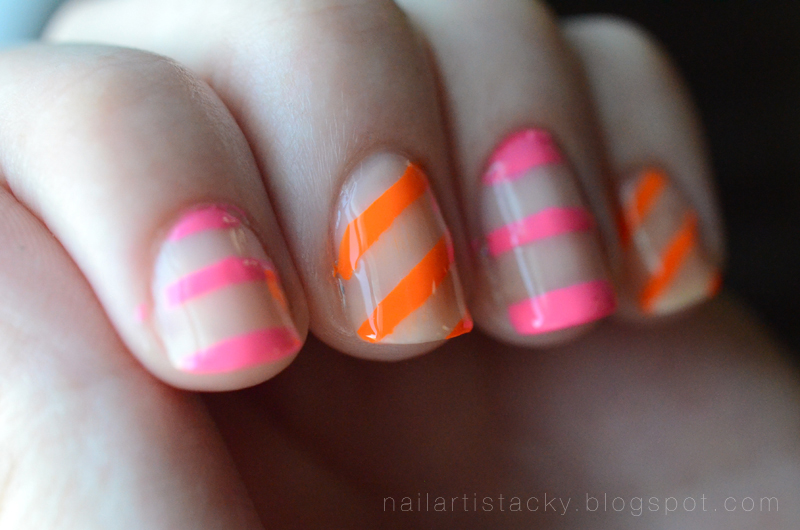 Neon & Nude Nail Art - OCC Beta - OCC Anime