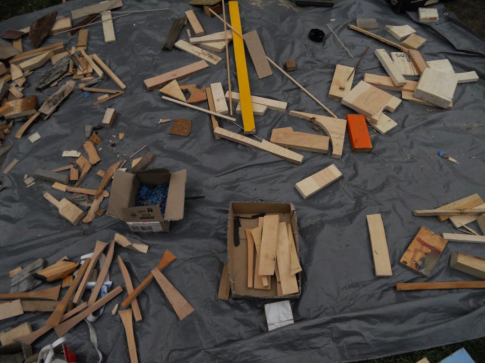Fritt skapande med träskrot