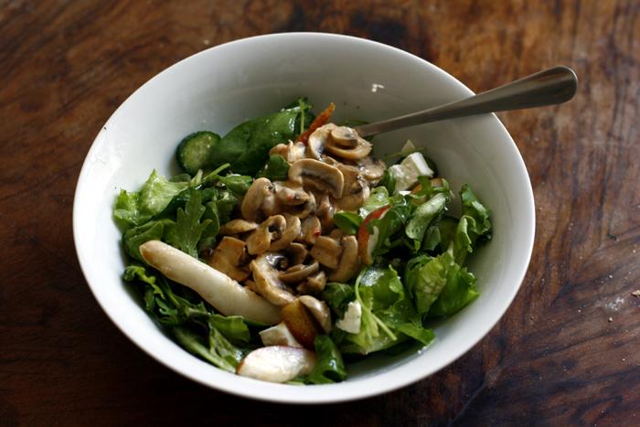 birnen champignon salat vanilleeis mit nektarinen transglobal pan party. Black Bedroom Furniture Sets. Home Design Ideas