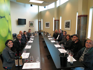 Structured tasting at Niagara College Teaching Winery