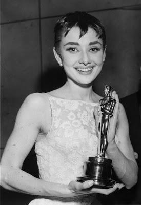 Audrey Hepburn's Oscar win Roman Holiday