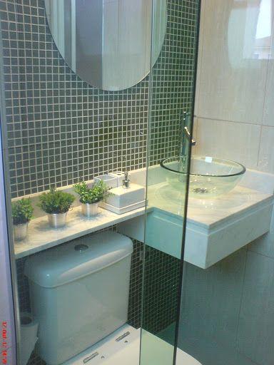 Flores e plantas no banheiro ou lavabo  Jeito de Casa  Blog de Decoração -> Banheiro Decorado Com Vaso Cinza