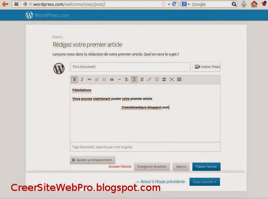 Comment Créer un Blog WordPress : Création d'un Blog