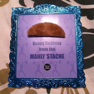 mustache birthday card