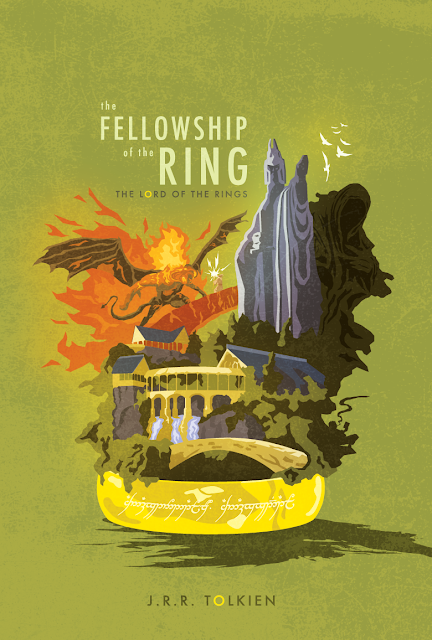 Lord Of The Rings Book Cover Poster