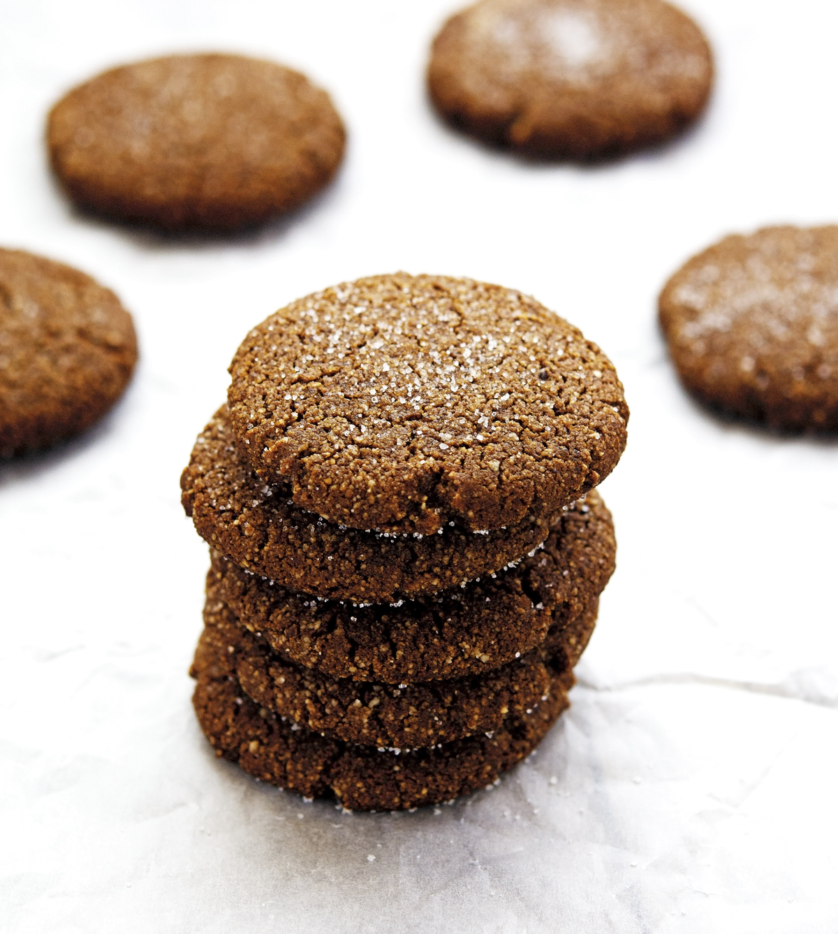 Chewy Gingerbread Cookies (Paleo and Vegan) Print this recipe!