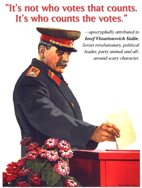 joeseph stalin on voting