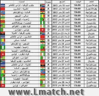 مباريات المغرب, مواعيد مباريات تونس , مواعيد مباريات الجزائر , ترتيب المجموعات