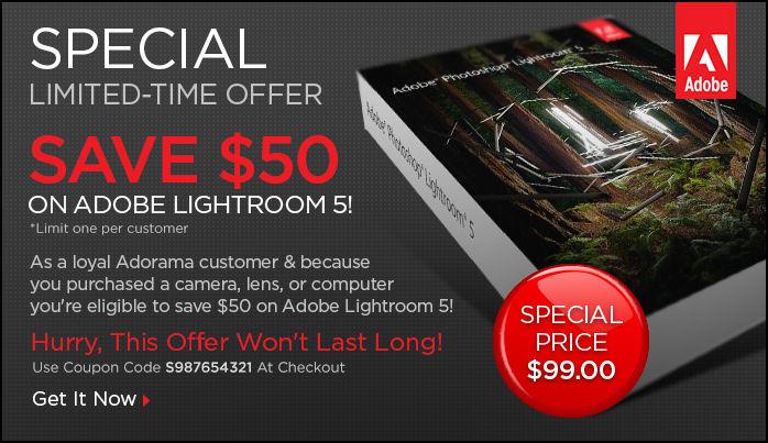Adobe lightroom 5 coupon code
