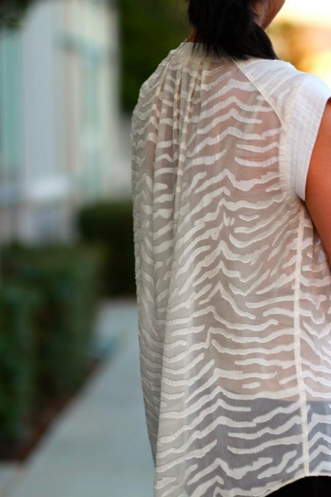 rebecca taylor burnout top blouse