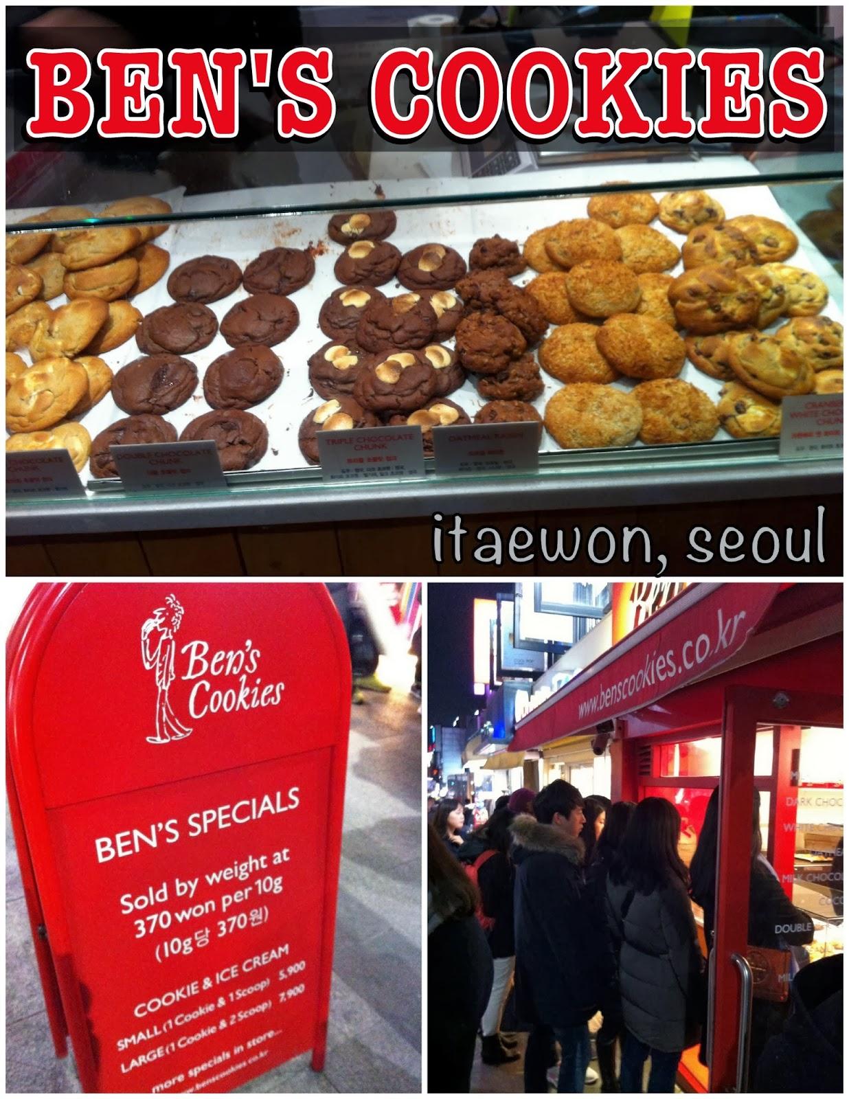 Ben's Cookies Itaewon Seoul