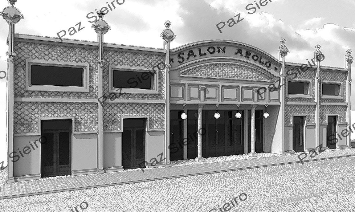 Works 3d edificio sal n apolo 1916 r a do paseo ourense arquitecto daniel v zquez gul as - Arquitectos ourense ...